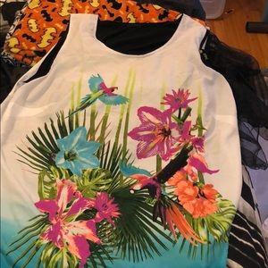 Women's 2X tropical dressy tank